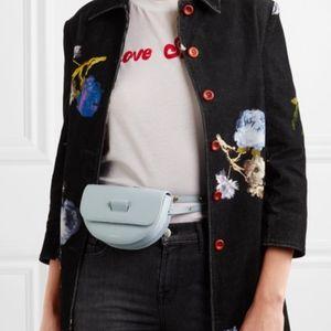 NEW Wandler Anna Blue Leather Convertible Belt Bag